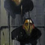 Gianluca Cavallo, Gli eliminatori, 2009, olio e smalto su tela, 150 x 80 cm