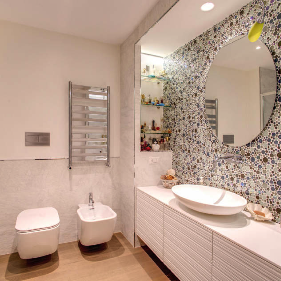 Decorare il bagno eco di sicilia - Come abbellire un bagno ...