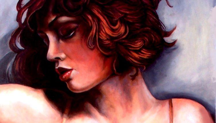 Nelly D'Urso, Rosso tiziano, olio su tela, cm 60×50