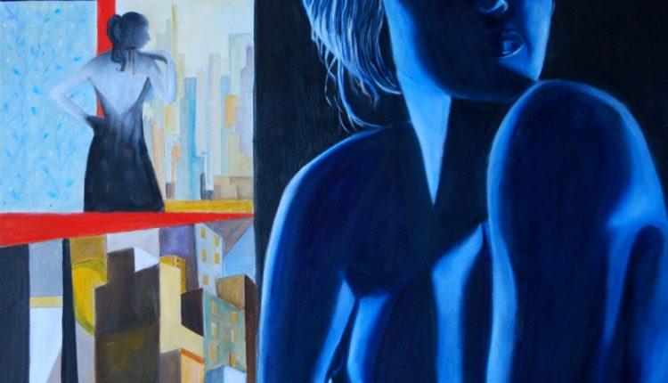 Un dipinto di Antonella Serratore, Decorativo, olio su tela, cm 50×50, 2017