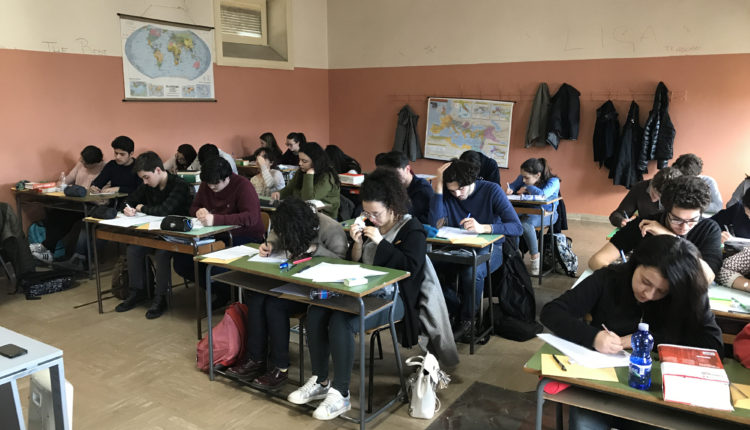 Studenti durante la prova 1