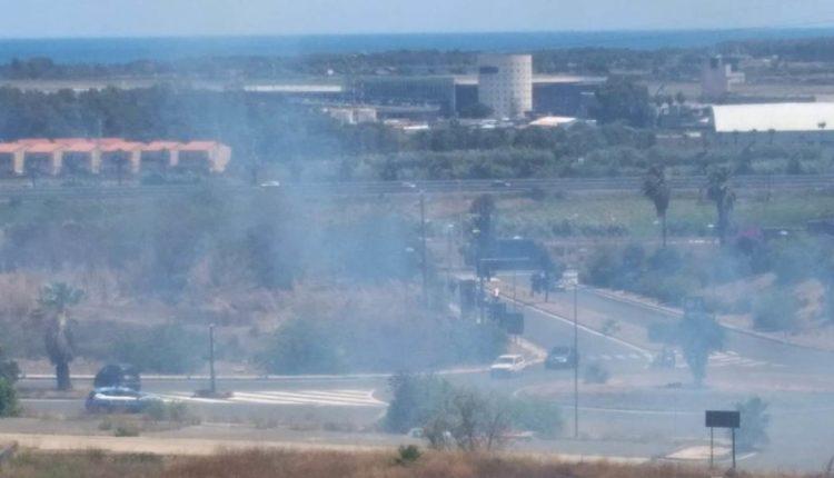 incendio viale castagnola catania (1)