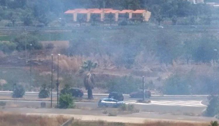 incendio viale castagnola catania (2)
