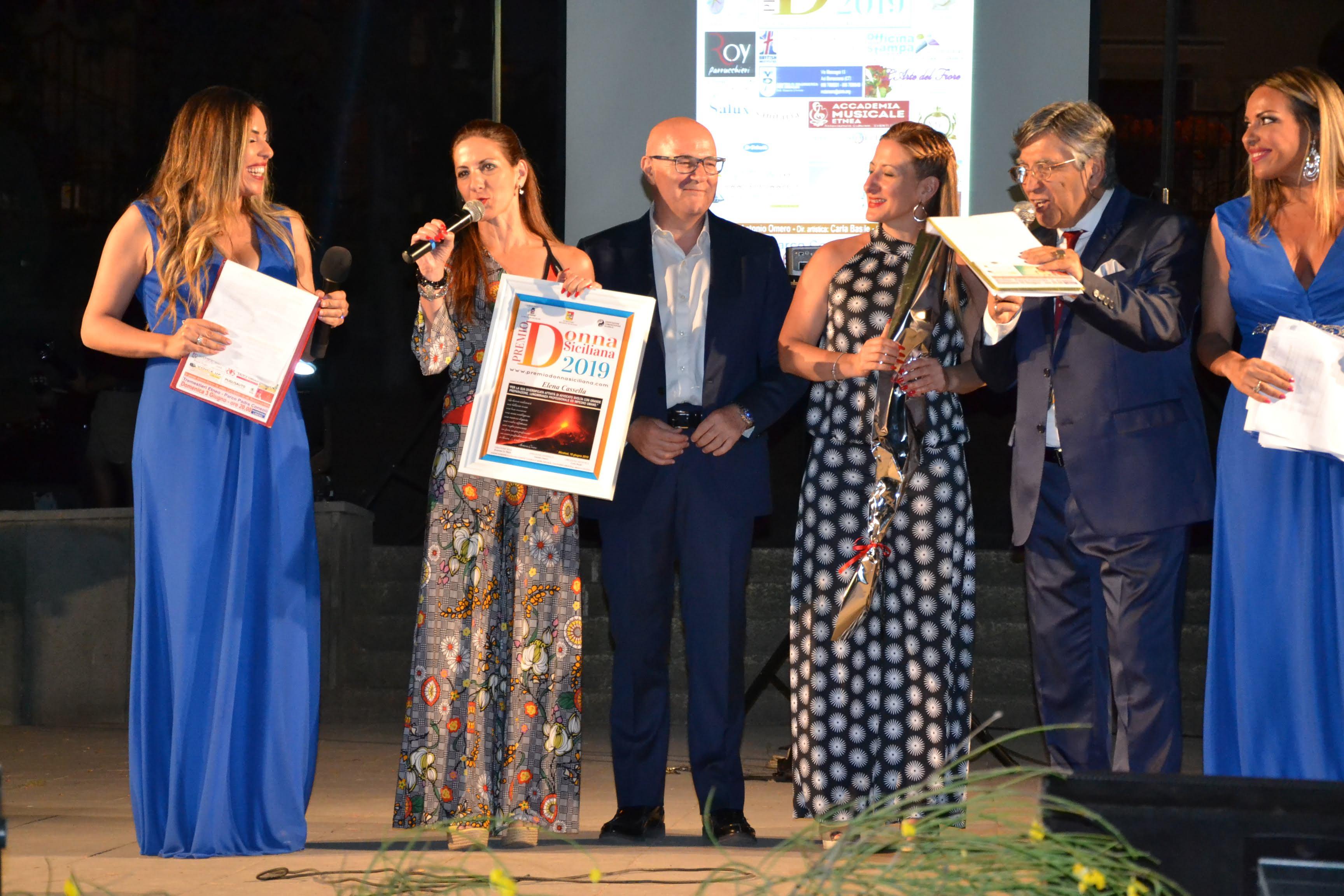 Nicolosi (Ct): consegnati i premi Donna siciliana 2019 Eco
