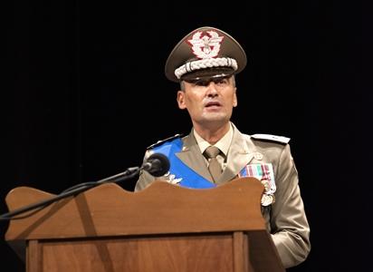 4. Il generale Bertoncello in un momento del suo discorso