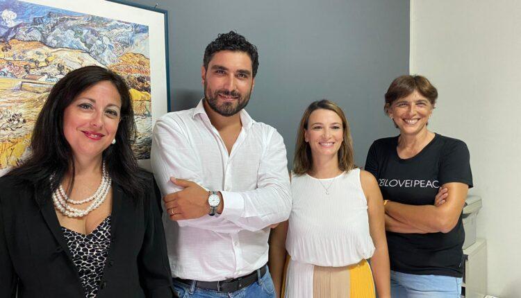 Da sinistra Mary Lo Cicero, Giovanni Pitarresi, Anna Maria Cilluffo e Loredana Francofonte