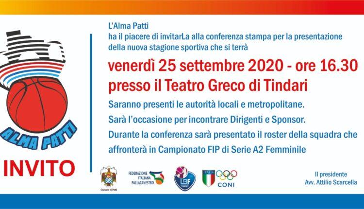Invito presentazione stagione Alma Patti 2020_2021