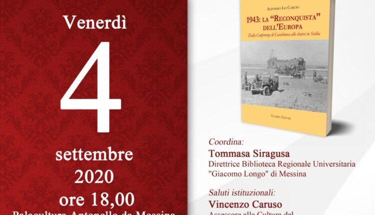 Locandina Messina presentazione libro 1943 la Reconquista dellEuropa