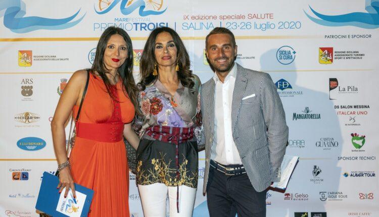 Nadia La Malfa, Maria Grazia Cucinotta e Massimiliano Cavaleri