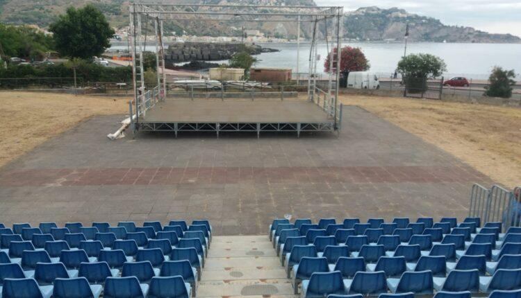 PNT, Naxos, Tribunetta e palco (lavori in corso) 02.09.2020