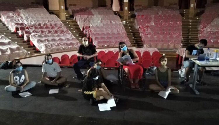 Teatro Mandanici – Alcuni degli allievi del Laboratorio multidisciplinare