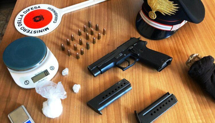 droga e pistola Paternò