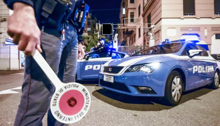 volanti polizia controllo notte