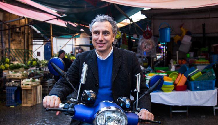 Andrea Giostra sullo scooter