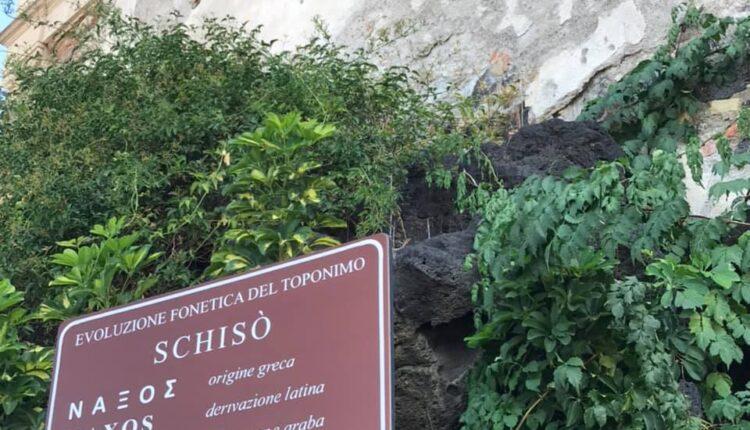 PNT, NAX, Segnaletica Castello Schisò