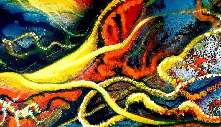 Pasquale Viscuso, Tempesta magnetica (particolare), dipinto su tela