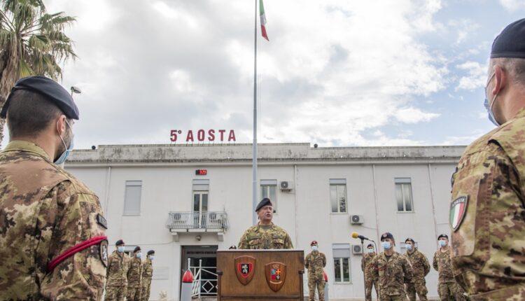 Incontro con il personale del 5° reggimento Fanteria Aosta