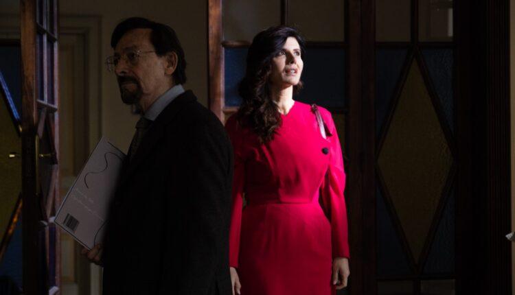 Leo Gullotta e Giovanna Rei sul set di Quel posto nel tempo
