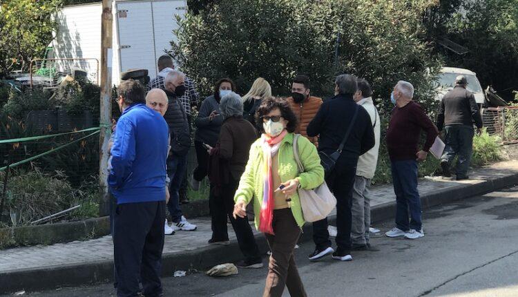 Protesta residenti via Romagna