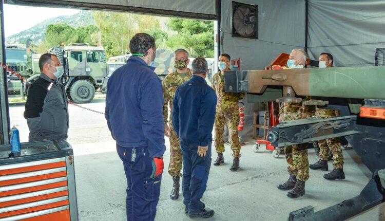 Visita alle officine del Reggimento Logistico Aosta