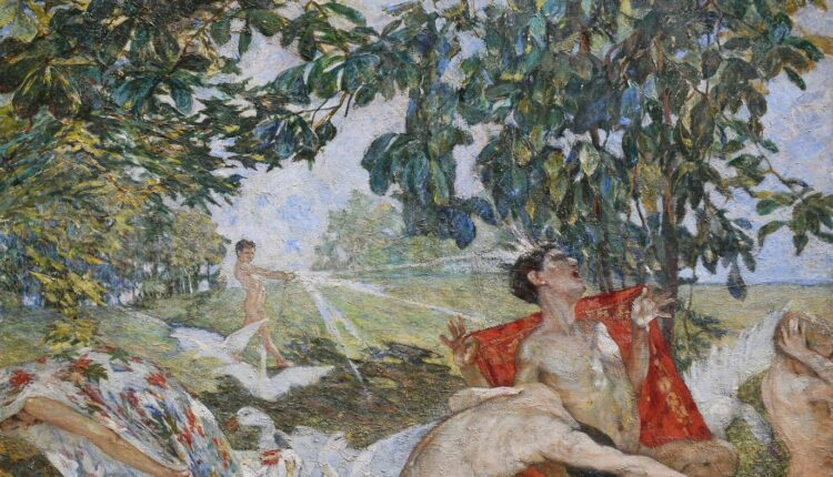 CARLA CELESIA DI VEGLIASCO, Acqua e sole, olio su tela (1912), lgt