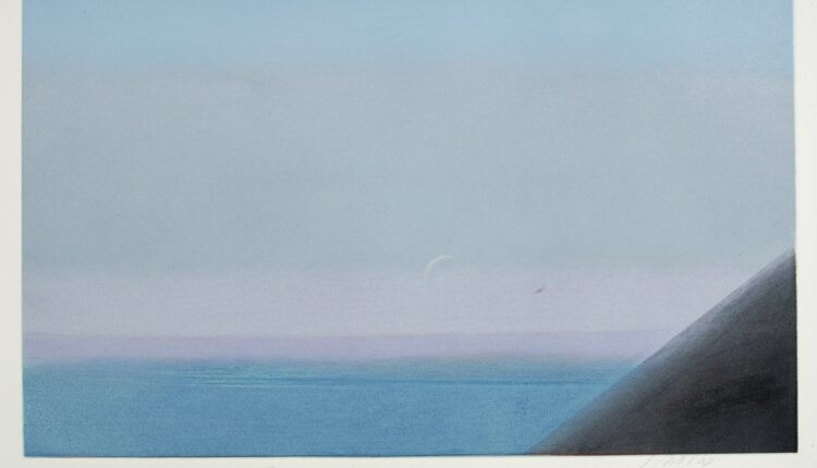PIERO GUCCIONE, Studio nero e azzurro, 1 di 4, pastelli (2003), LGT