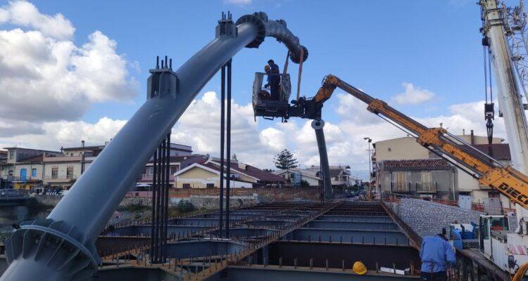 Lavori Ponte Calderà foto 2 del 15 luglio 2021