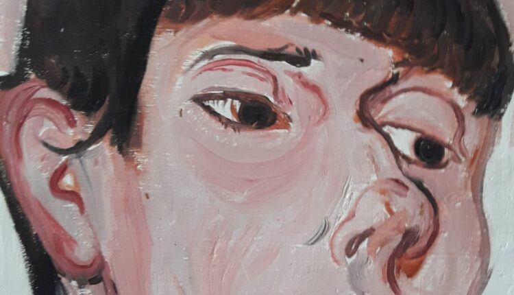 Mirela Morreale_Ritratto anonimo_2021_Olio su tela_Cm 30×25
