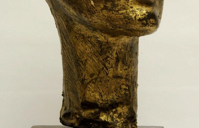 UMBERTO MASTROIANNI, Ritratto di donna, maschera in bronzo, 1939 lgt