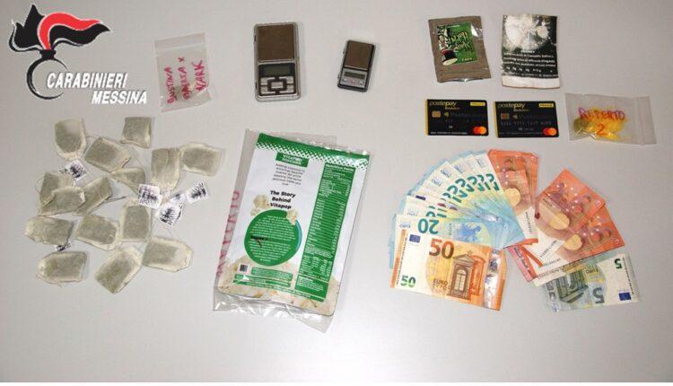 CC Barcellona P.G. droga sequestrata