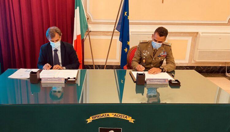 Il Rettore dell%u2019Università di Messina e il Comandante della Brigata Aosta sottoscrivono l%u2019Accordo