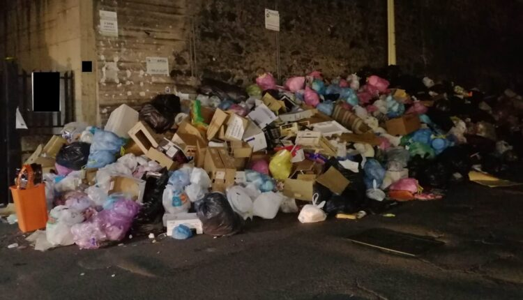 via XXXI maggio e via Nervesa della Battaglia letteralmente sommerse dai rifiuti (2)