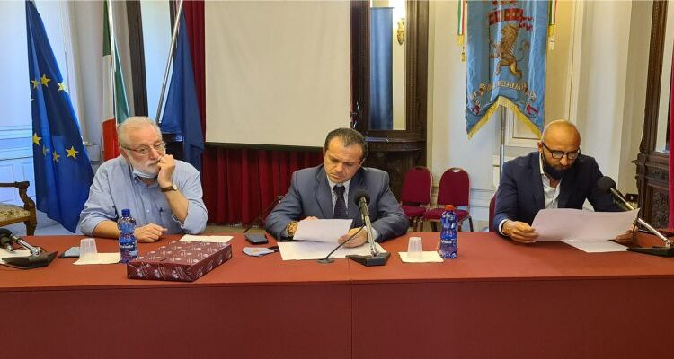 Da sin. Roccaforte, De Luca e Puccio