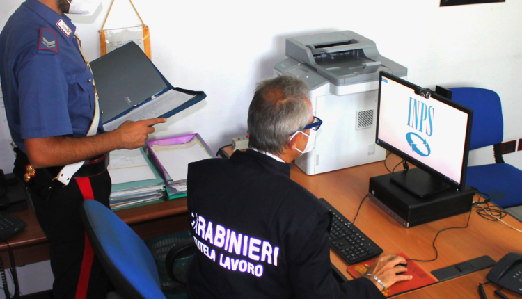 Foto Carabinieri Ispettorato Lavoro
